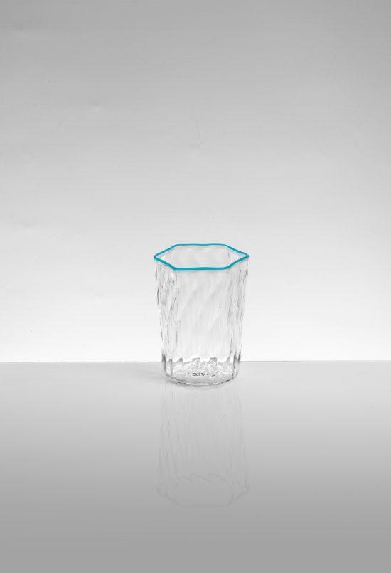 bicchiere liquore ballotton azzurro